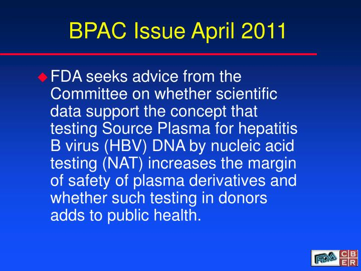 Bpac issue april 2011