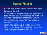 source plasma