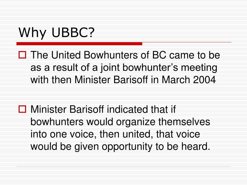 Why UBBC?