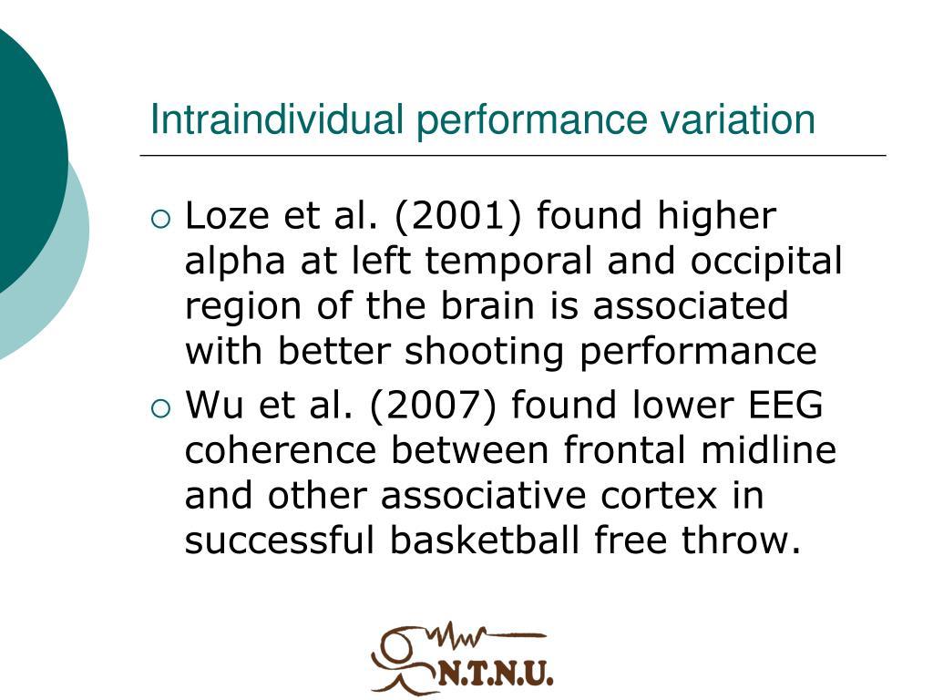 Intraindividual performance variation