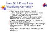 how do i know i am visualizing correctly