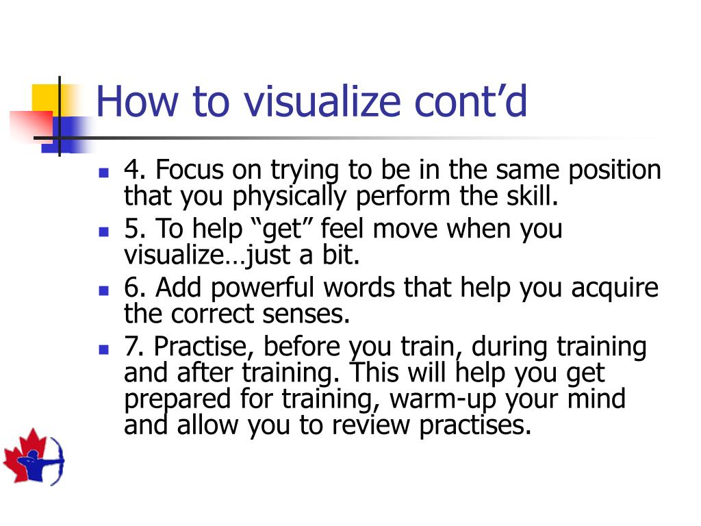 How to visualize cont'd