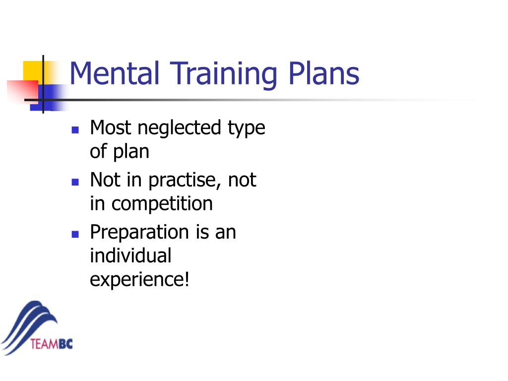 Mental Training Plans