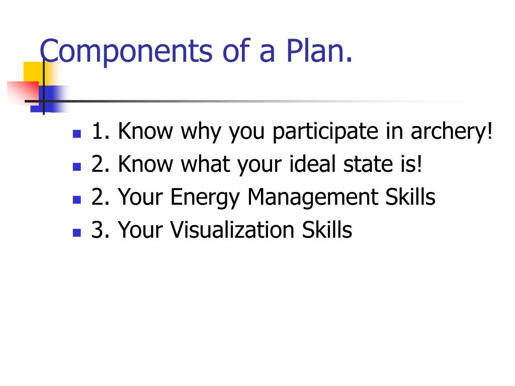 Components of a Plan
