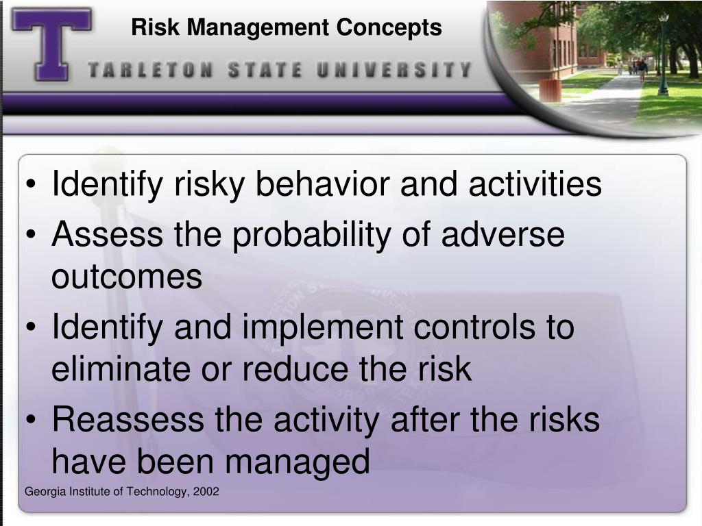 Risk Management Concepts