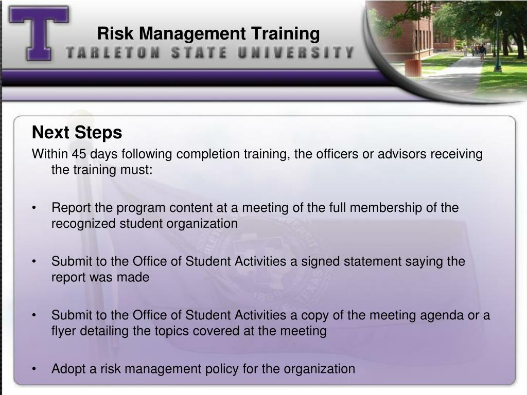 Risk Management Training
