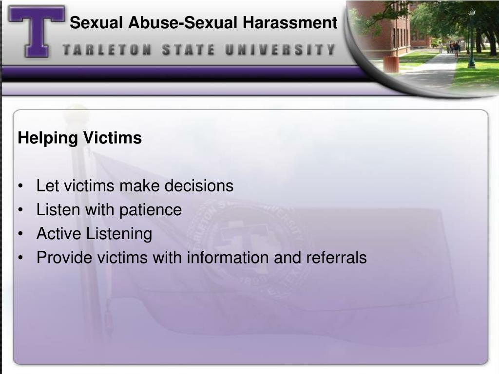 Sexual Abuse-Sexual Harassment