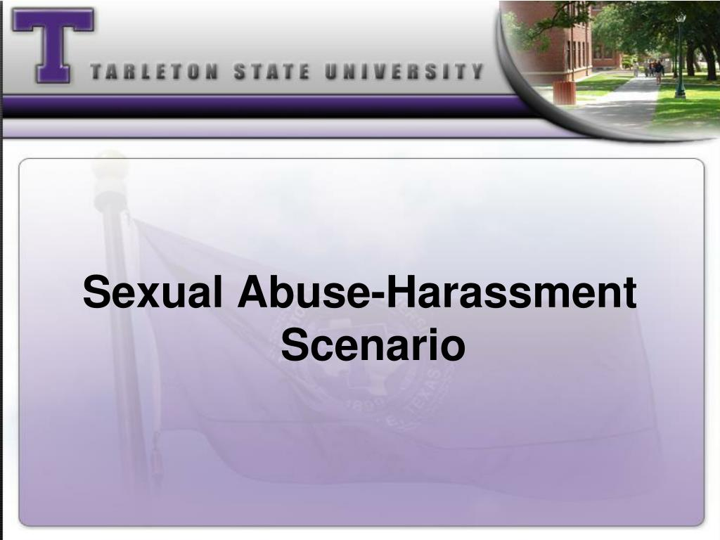 Sexual Abuse-Harassment Scenario