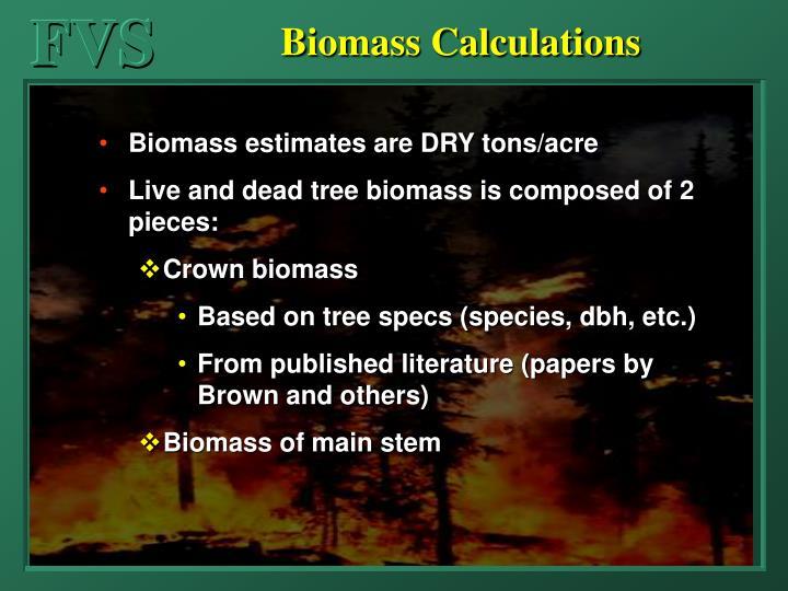 Biomass Calculations