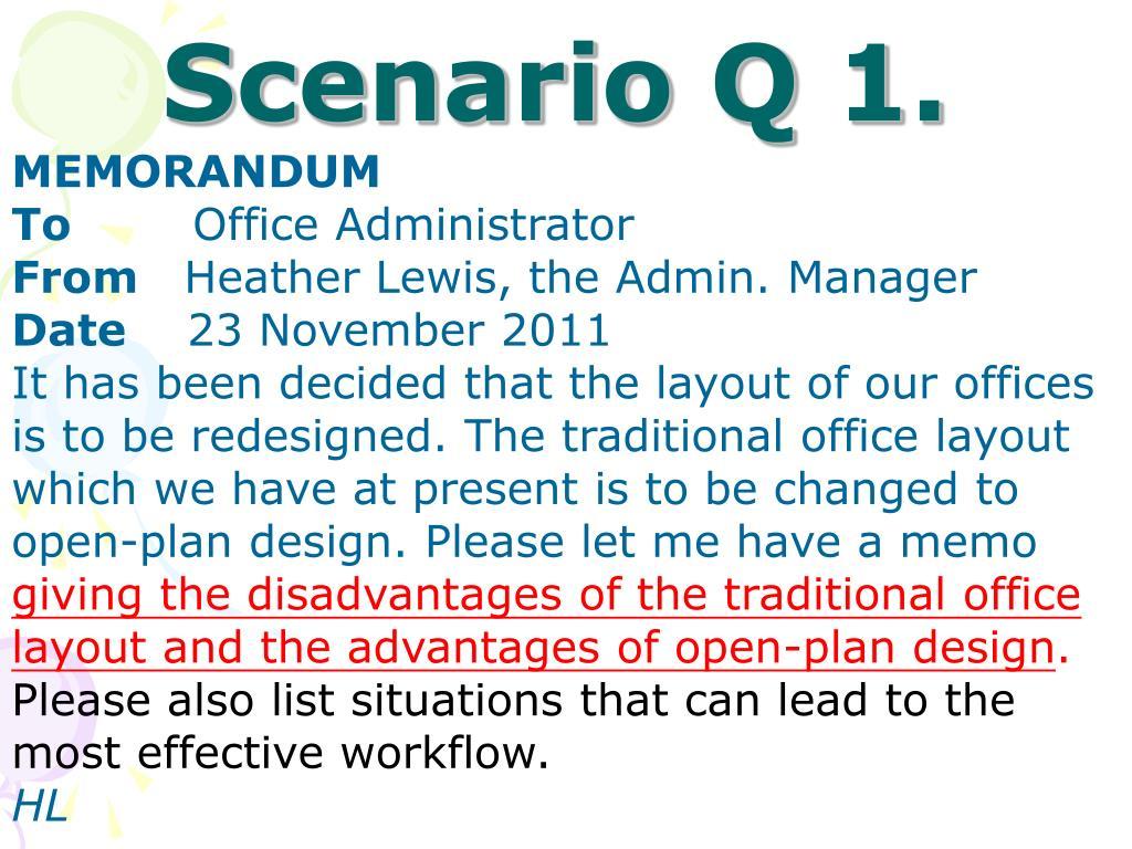 Scenario Q 1.