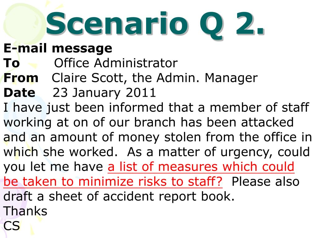 Scenario Q 2.