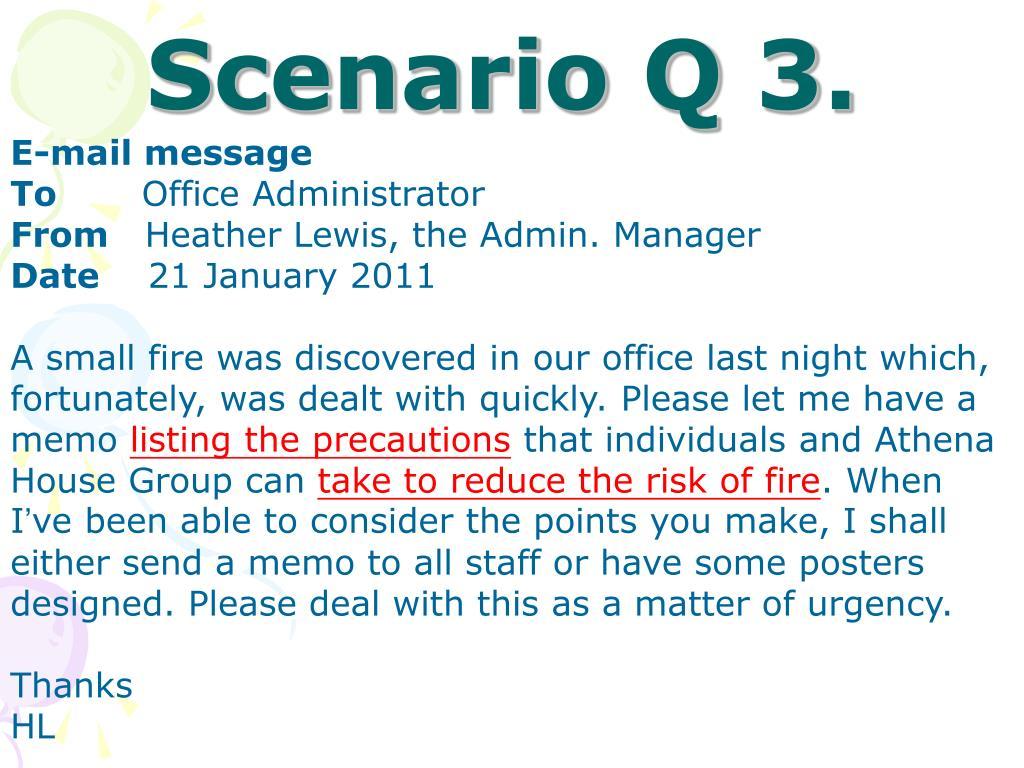 Scenario Q 3.