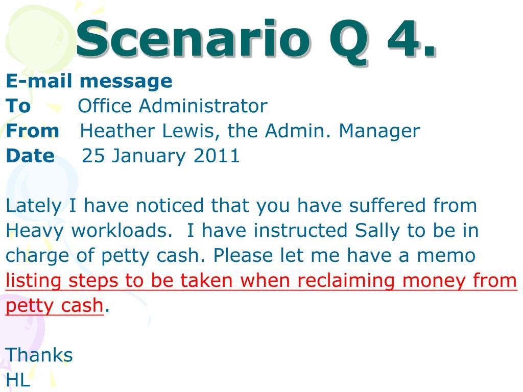 Scenario Q 4.