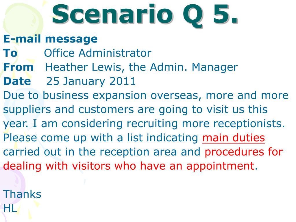 Scenario Q 5.