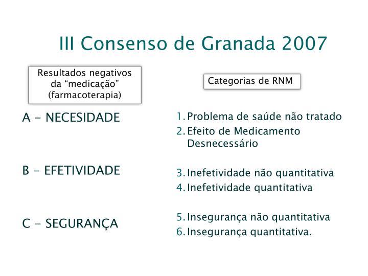 III Consenso de Granada 2007