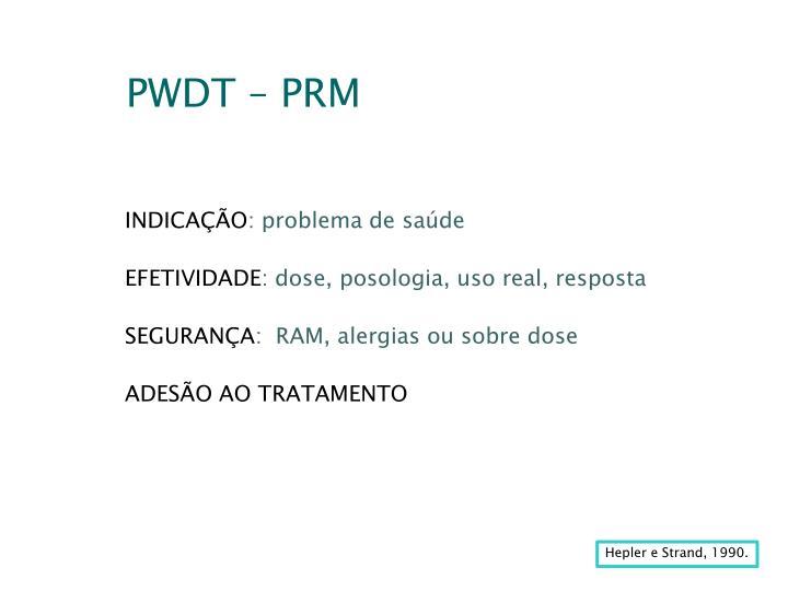 PWDT – PRM