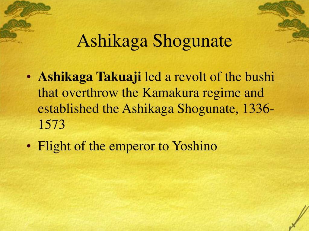 Ashikaga Shogunate