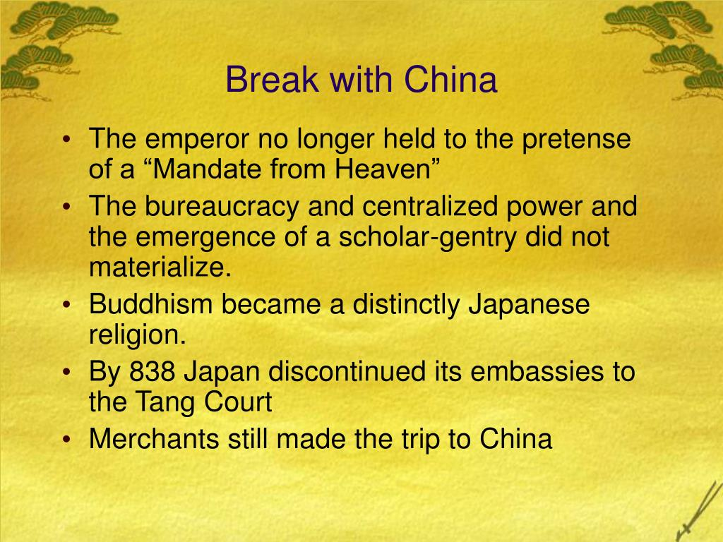 Break with China
