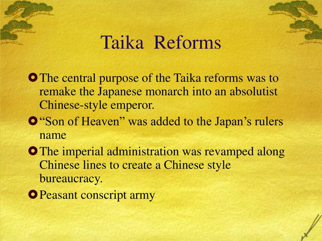 Taika  Reforms