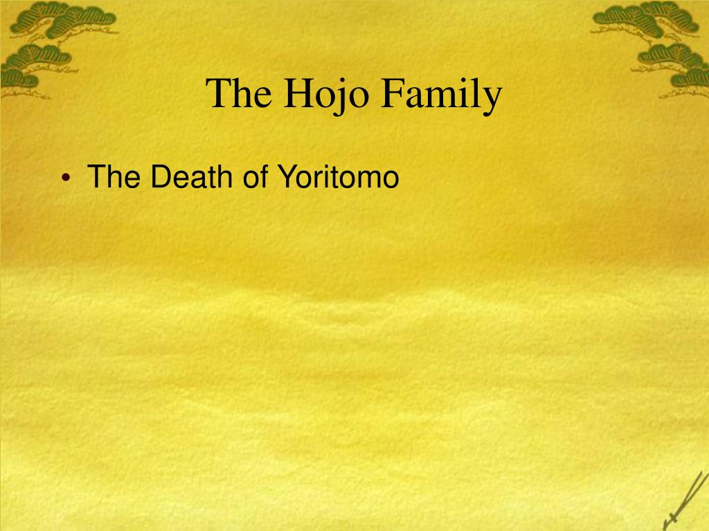 The Hojo Family