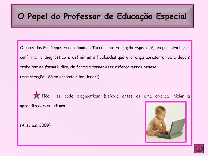 O Papel do Professor de Educação Especial