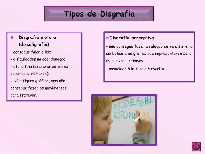 Tipos de Disgrafia