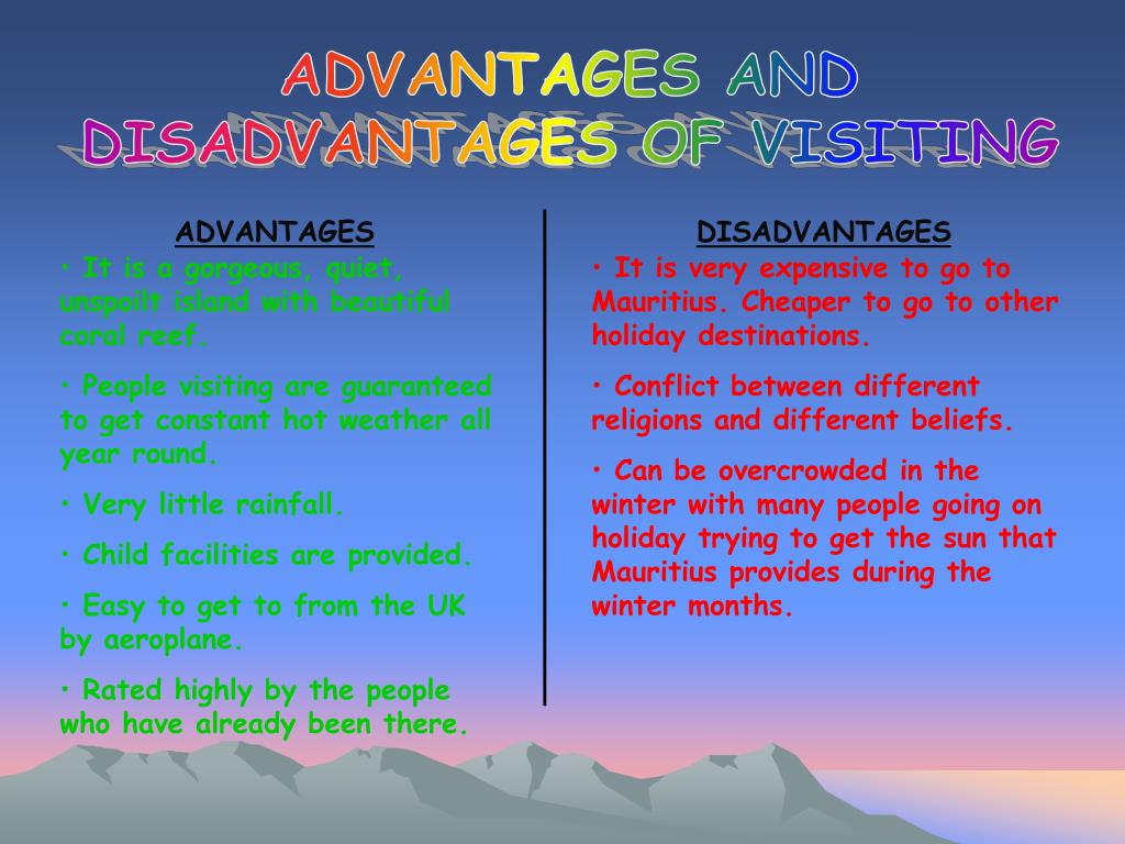 ADVANTAGES AND