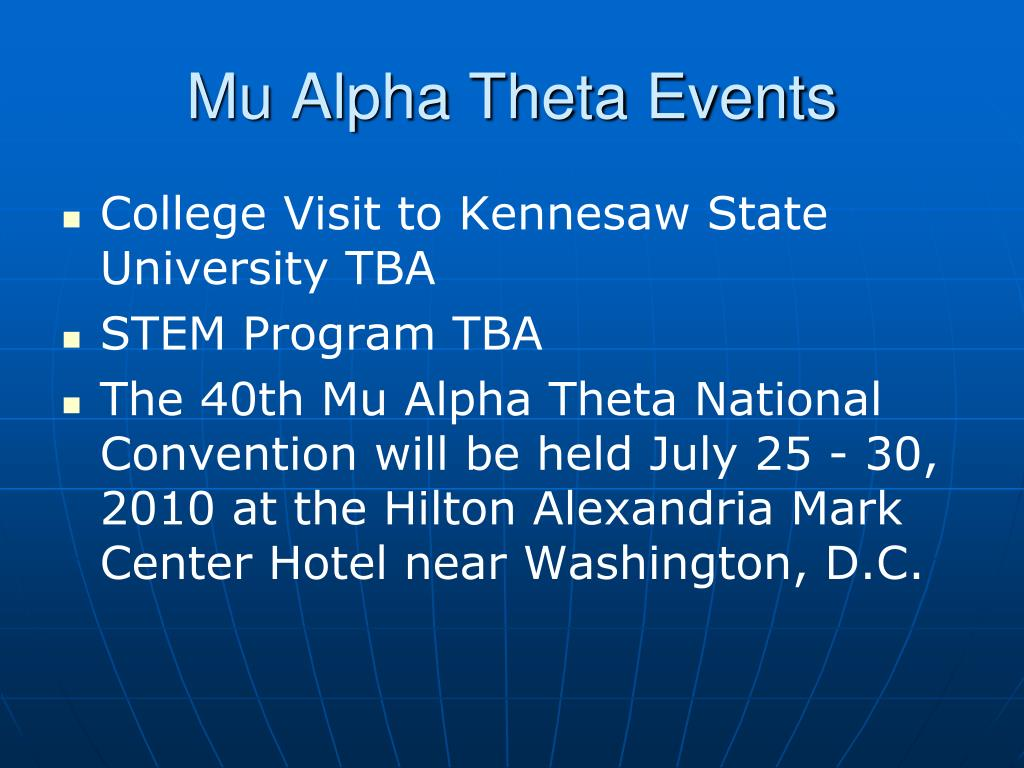 Mu Alpha Theta Events