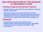 inclusive education of the disabled at secondary stage