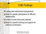 cge findings8