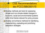 cge recommendations doc fccc sbi 2001 15