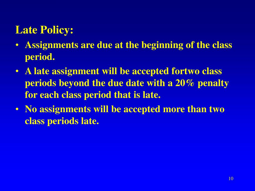 Late Policy: