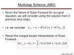 multistep scheme ab2