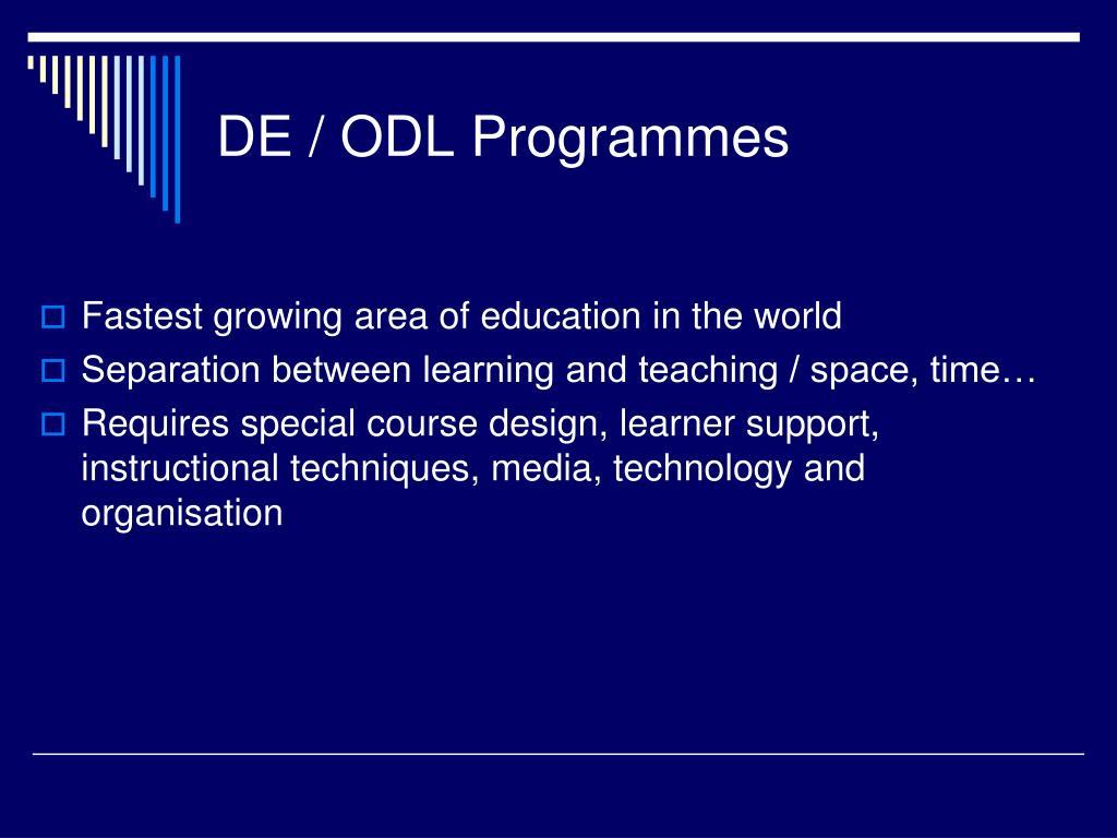 DE / ODL Programmes