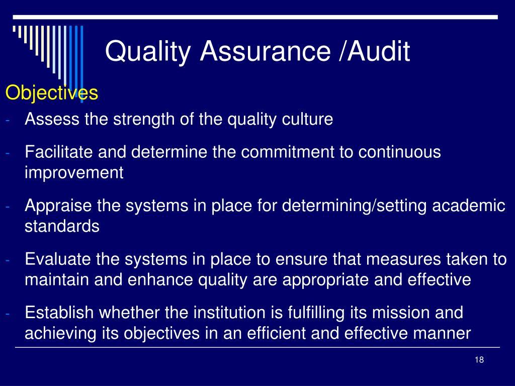 Quality Assurance /Audit