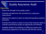 quality assurance audit