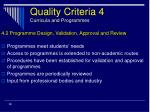 quality criteria 4 curricula and programmes28