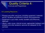 quality criteria 4 curricula and programmes31