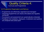 quality criteria 4 curricula and programmes32