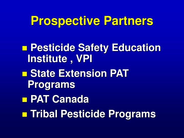 Prospective Partners