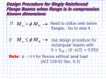 design procedure for singly reinforced flange beams when flange is in compression known dimensions7