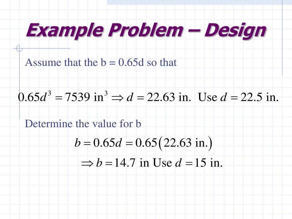 Example Problem – Design