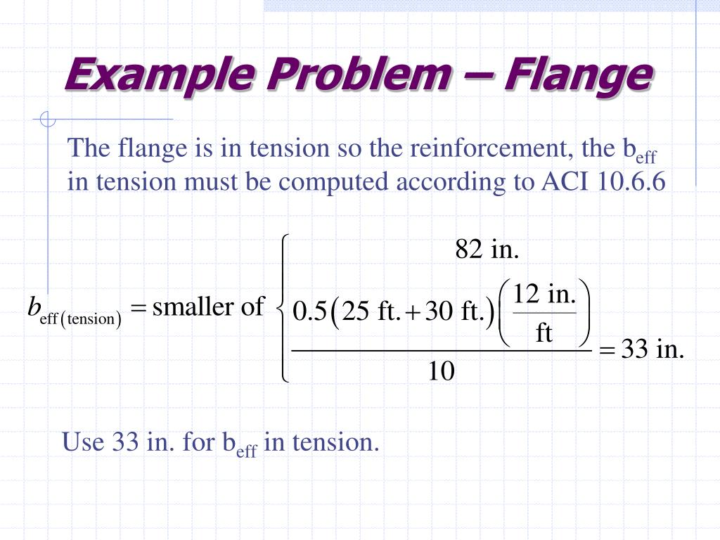 Example Problem – Flange