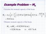 example problem m n