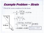 example problem strain