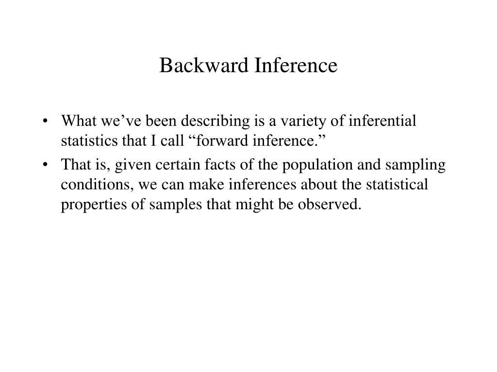 Backward Inference
