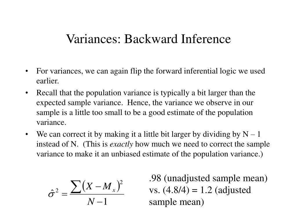 Variances: Backward Inference