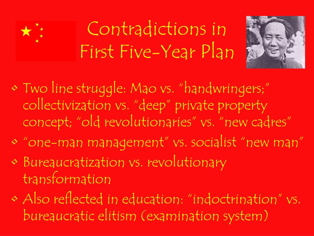 Contradictions in First Five-Year Plan