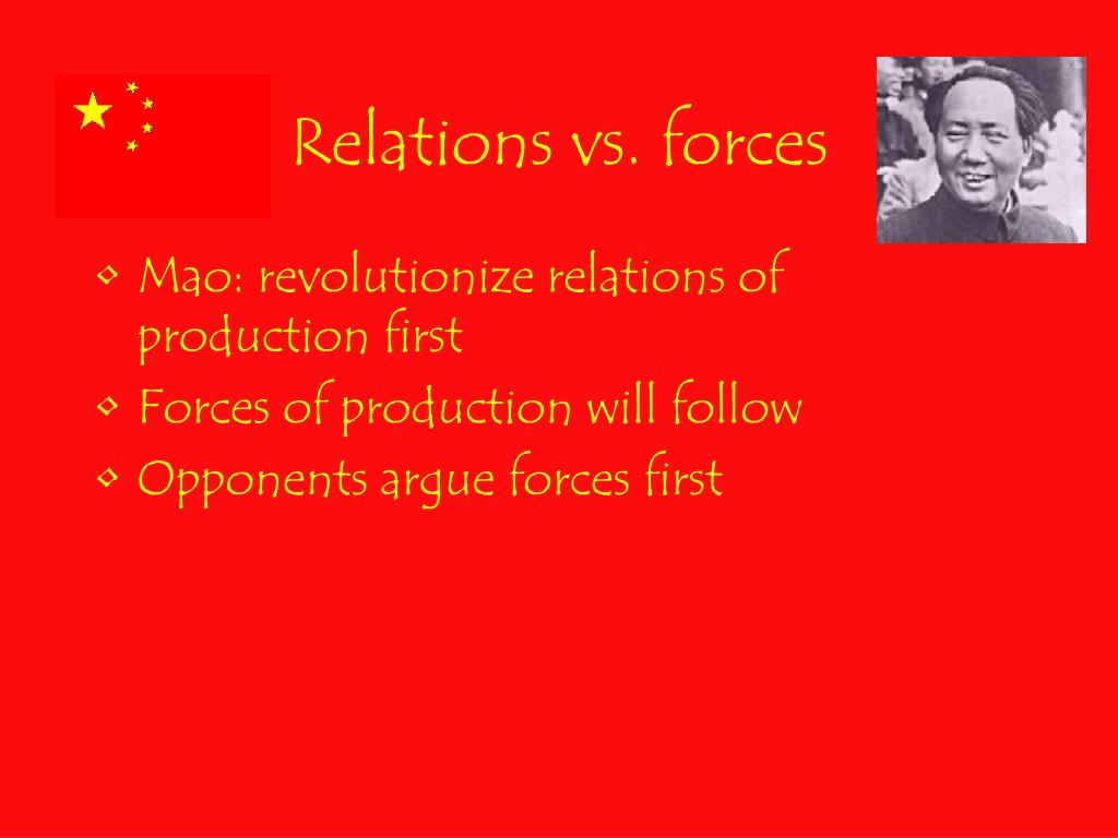 Relations vs. forces