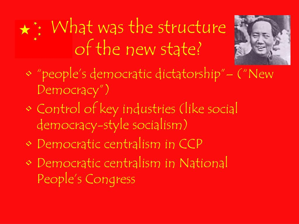 What was the structure of the new state?